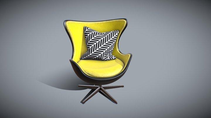 Yellow Armchair 3D Model