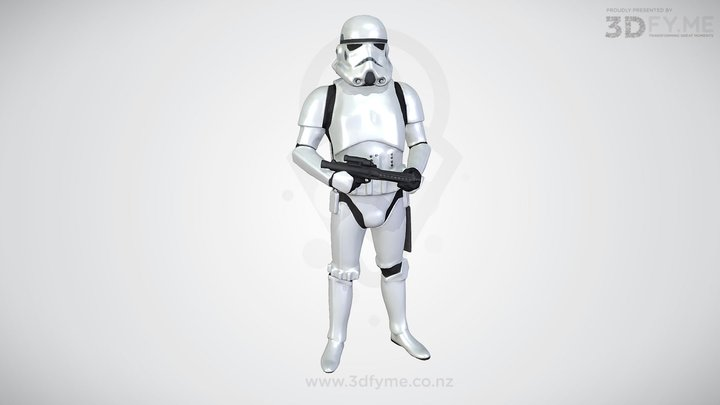 Stormtrooper - Cosplay (Low Poly Scan, 3D-Print) 3D Model