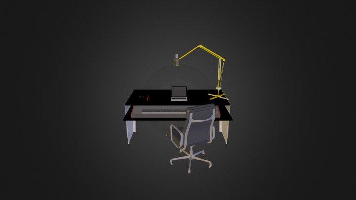 Amandas skrivbord 3D Model