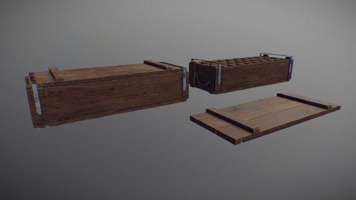 Wood Military Box 3D Model