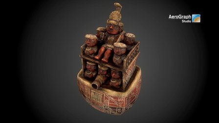 Huaco of Recuay style imitation, Peru 3D Model