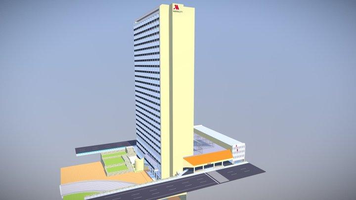 Marriot Riverwalk Hotel 3D Model