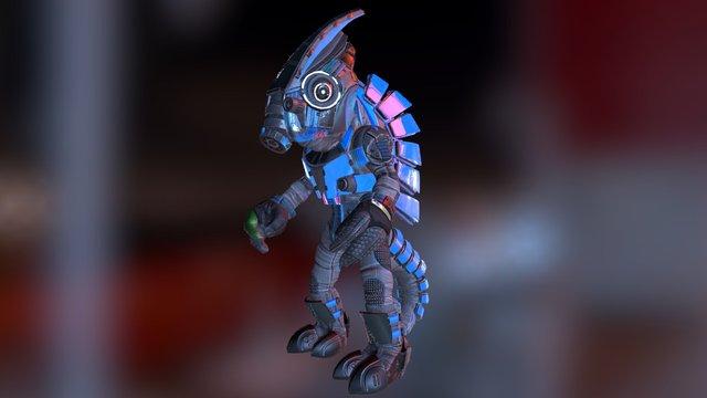 Hue the Chameleon Sniper 3D Model