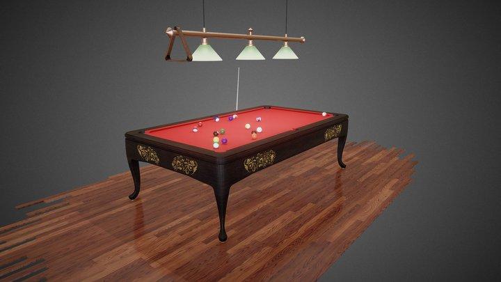 Luxury Billiard Table 3D Model