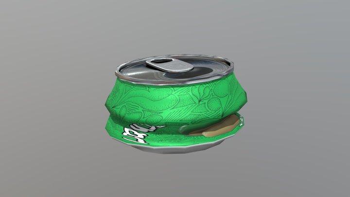 Beverage Can Deformed 3 - Liquid Mushroom 3D Model