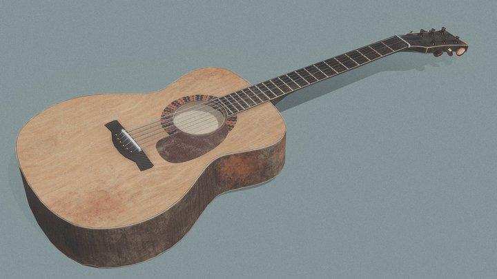 Old guitar 3D Model