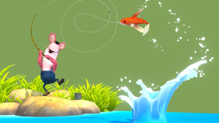 Fishing day 3D Model