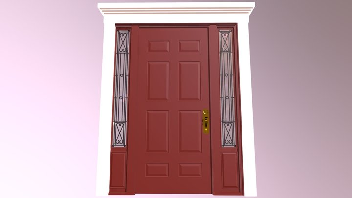Embellished front door 2 3D Model