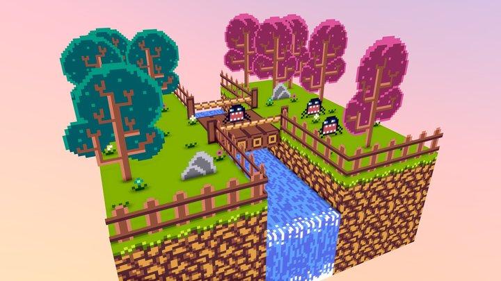 Forest (Diorama 3D) 3D Model