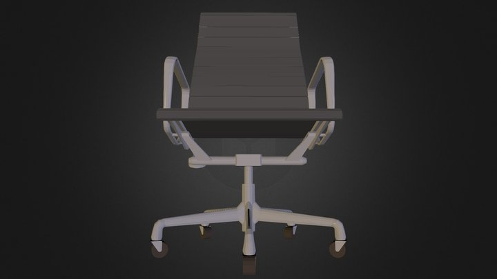 Eames Aluminum Executive Chair 3D Model