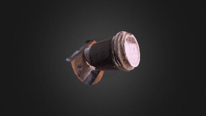 try #4 A cup of coffee 3D Model