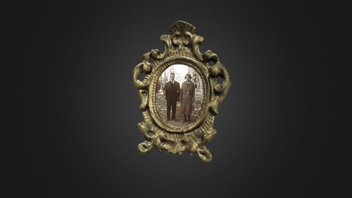 Old picture frame 3D Model