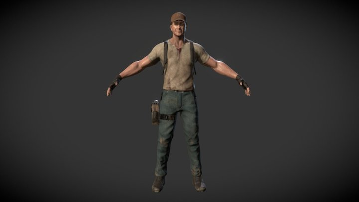 Adventure Game Character 3D Model