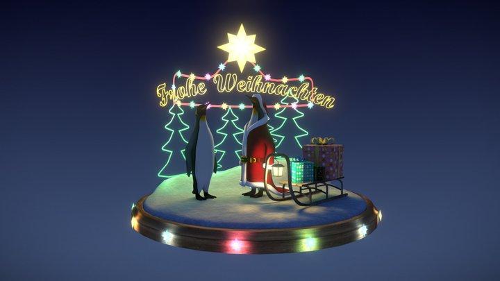 "[WIP] Pinguin ""Frohe Weihnachten"" 3D Model"