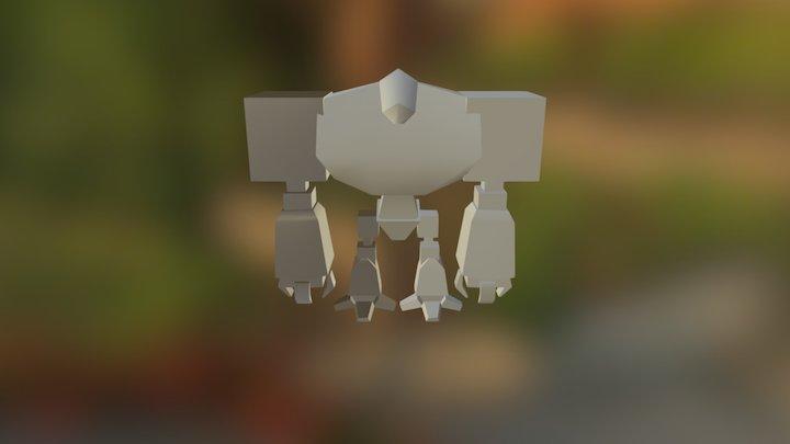 07-(a) Robot - Blocked Model 3D Model
