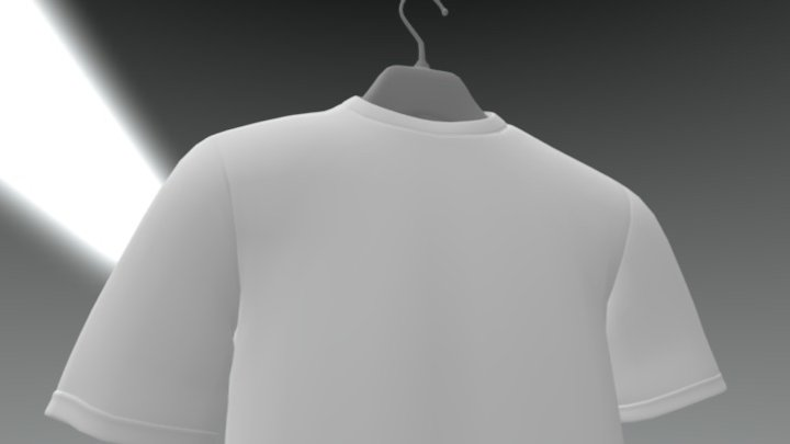 T-Shirt On Hanger 3D Model