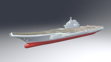 Liaoning Aircraft Carrier 3D Model