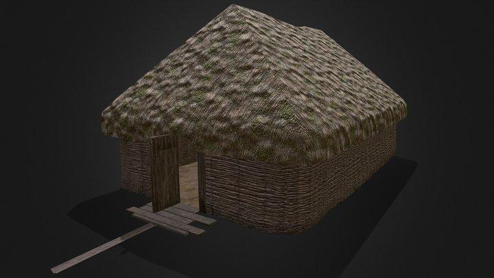 Viking Hut Type 1 - Linn Duachaill 3D Model