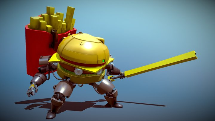 Burger-Bot [XYZ School DAILY CHALLENGE] 3D Model