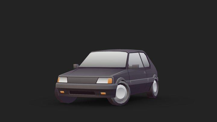 Vehicle - Peugeot 205 3D Model