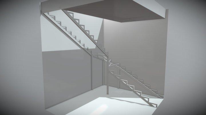 Closed frame inner stairs. Frame only. Ver. 1 3D Model