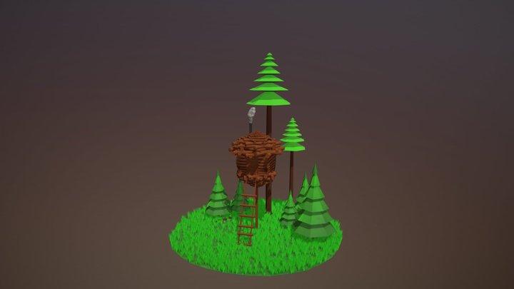 Tiny Cabin Challenge 3D Model