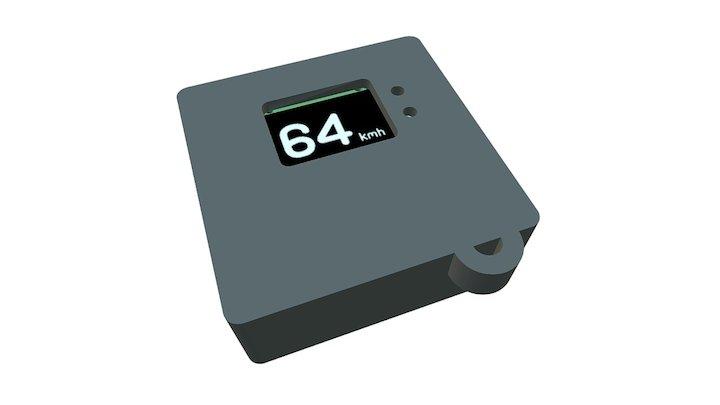 Snowboard GPS Accelerometer logger 3D Model