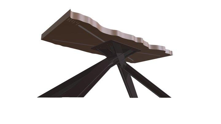 Steel Beam Slab Table 3D Model