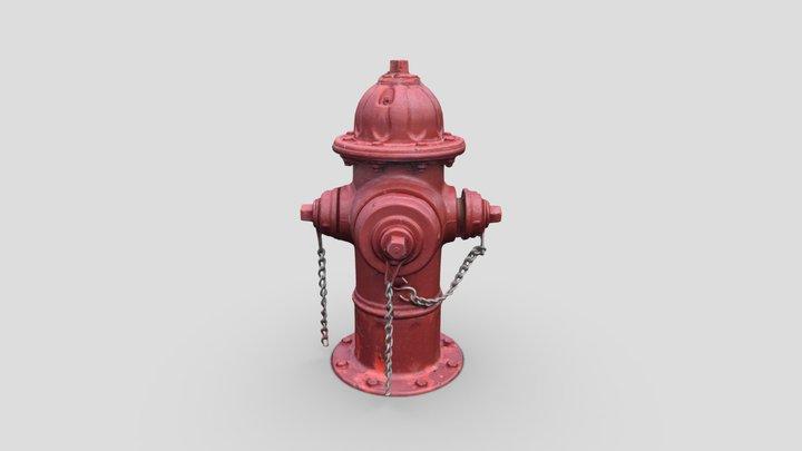 Fire Hydrant 3 -- Photogrammetry Asset 3D Model