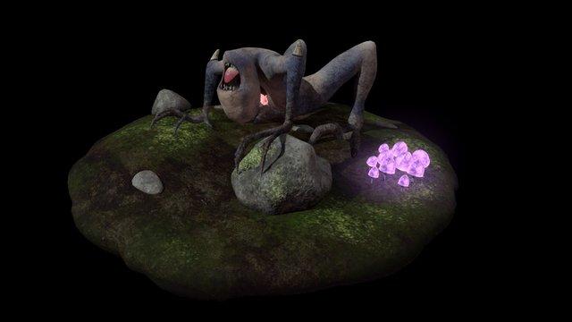 The Blind Seeker (W.Animation) 3D Model