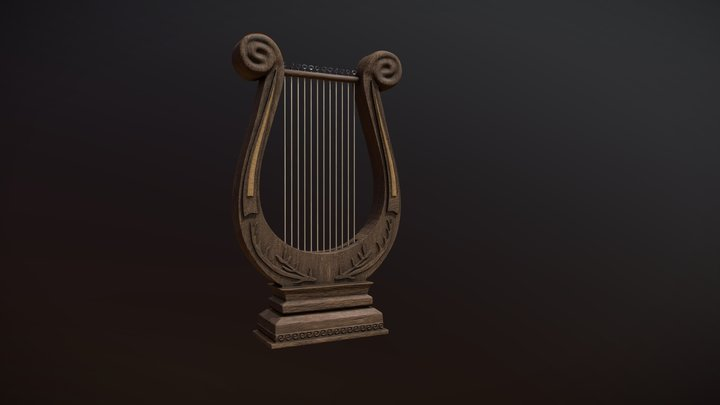 Greek Lyre 3D Model