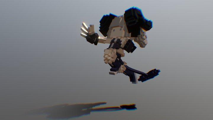 POSE-- preparin punch airborne 3D Model