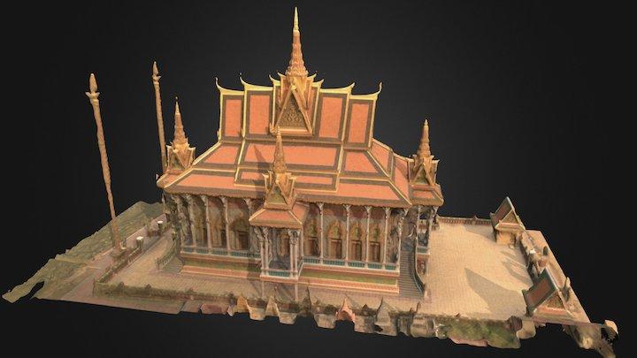 Buddhist Temple, Cambodia 3D Model