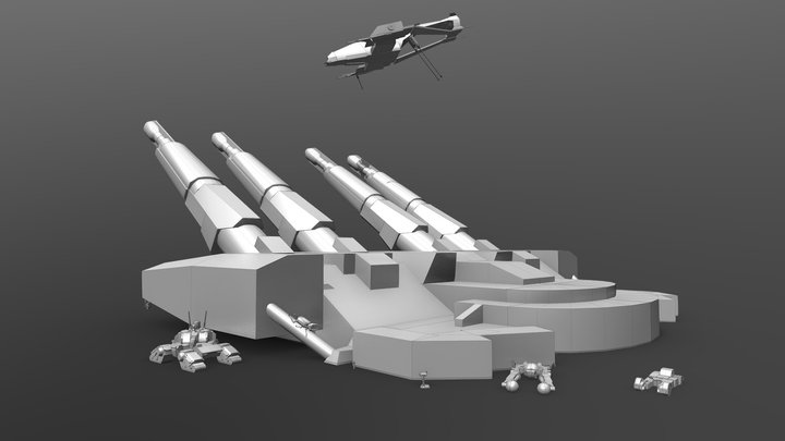 Blocking l Блокинг 3D Model