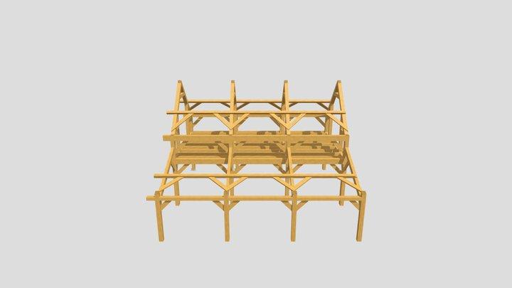 3 bay  Garage 3D Model