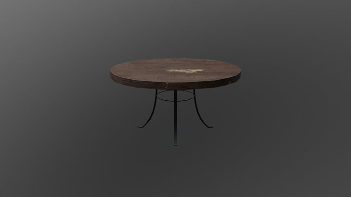Table Low Poly 3D Model