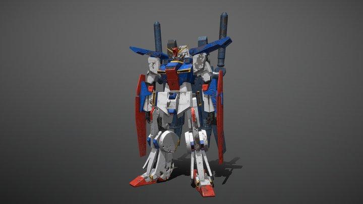 zz gundam battle damage 3D Model