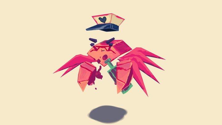 The drunk crab 3D Model