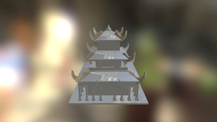 Arquitectura Asiatica 3D Model