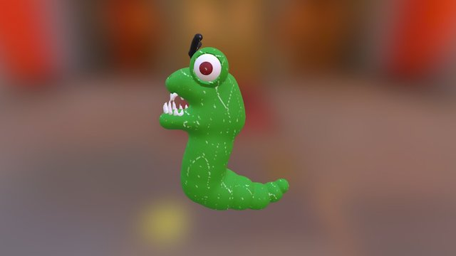 Angry Worm (original) 3D Model