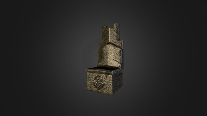 stone chair 3D Model