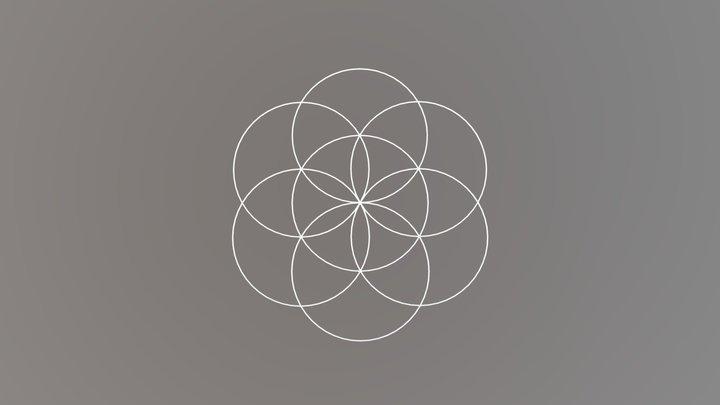 Sacred Geometry: Seed of Life 3D Model