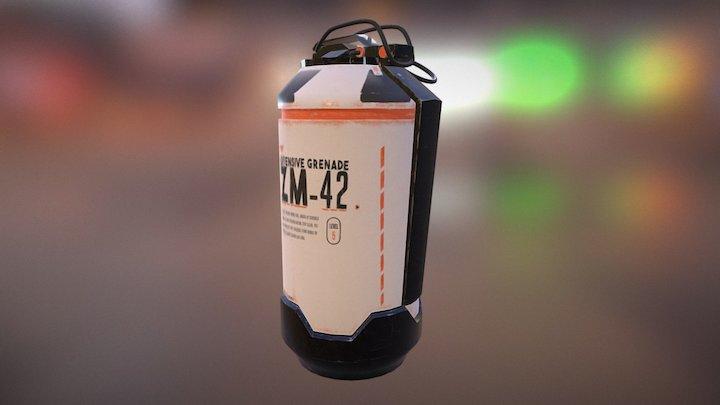 PBR Grenade 3D Model