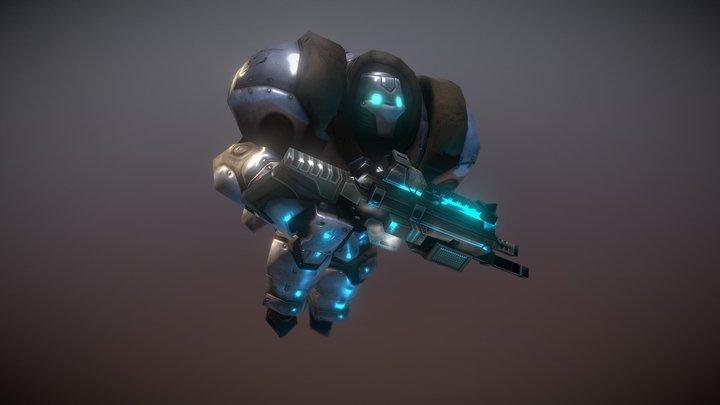 Eden Heavy Armor Mech 3D Model
