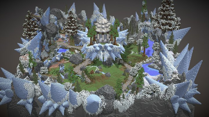 Minecraft Warzone Ice themed 400x400 3D Model