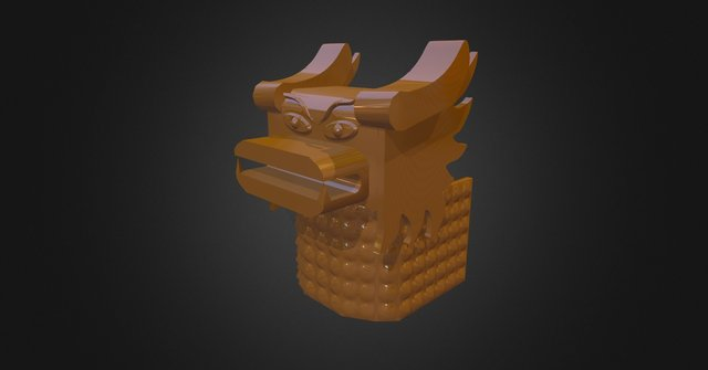 Dragon head (Luc) 3D Model