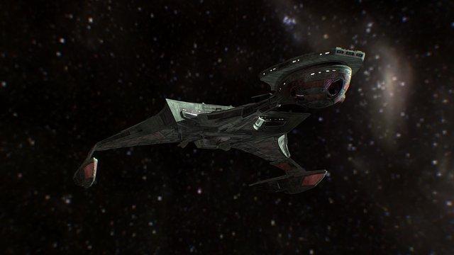 Star Trek Renegades Klingon Battle Cruiser 3D Model