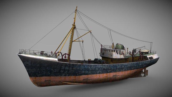 North Sea Trawler 3D Model