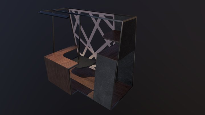 Workspace collab with an interior design student 3D Model