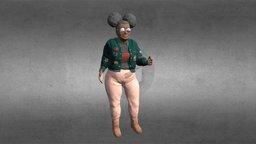 Wacky Granny 3D Model